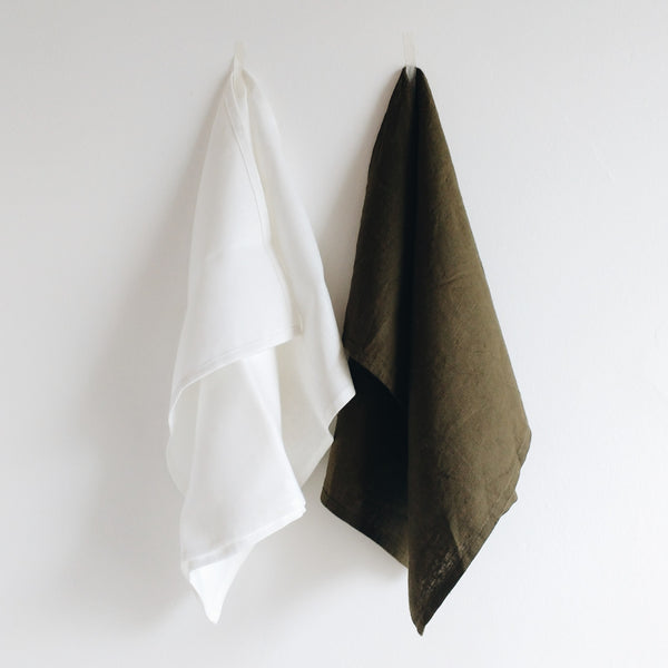 Set of 6 Linen Napkins | Milk White