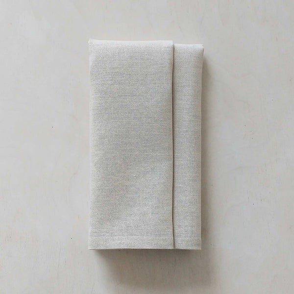 Irish Linen Napkins 31 Chapel Lane Dove Grey