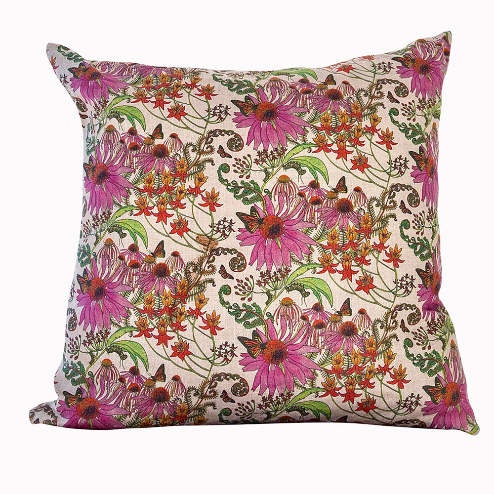 newton paisley linen cushion Carolina monarchs floral