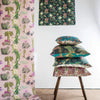 newton paisley linen wallpaper cushion collection