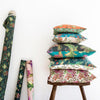 newton paisley linen cushions collection
