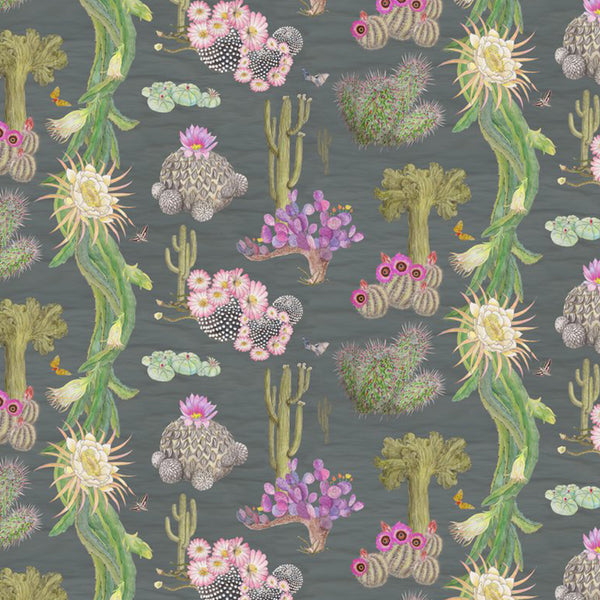 newton paisley wallpaper cactus Mexicanos carbon