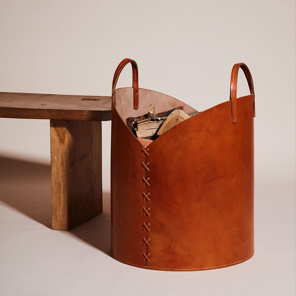 Otis Ingrams leather basket