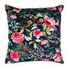 Philip clay velvet cushion floral river rose