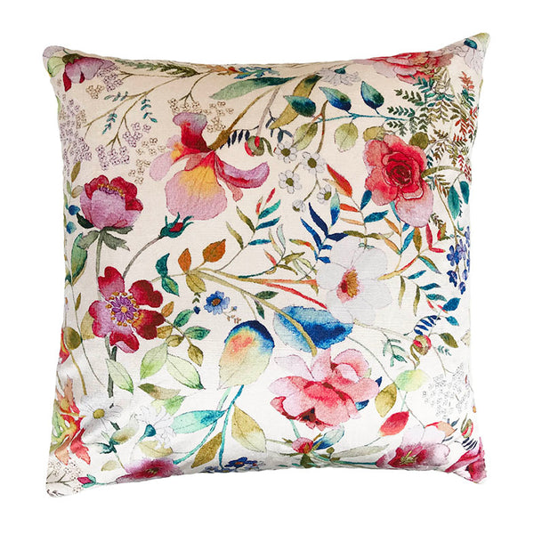 Philip clay velvet cushion floral seashell sunflower