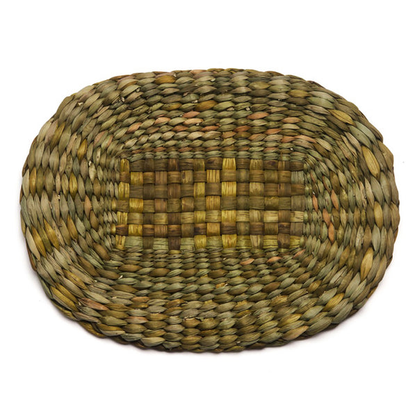 woven rush tablemat natural felicity irons oval