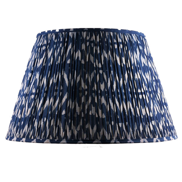 Samarkand design lampshade soho house cotton indigo zig zag