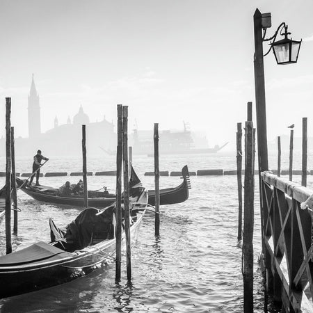 Gondolier in the mist