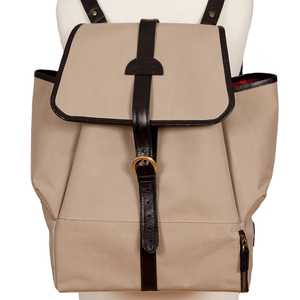 Easoto Travel Backpack Sturdy Matte Camel Front