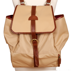 Easoto Travel Backpack Soft LoSheen Tan Front