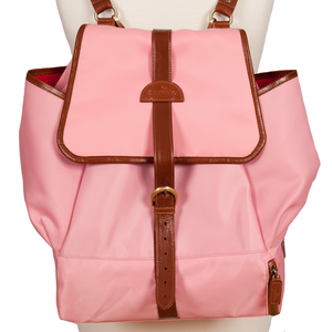 Easoto Travel Backpack Soft LoSheen Pink Front