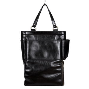 Easoto Commute Carryall Leather Black Front