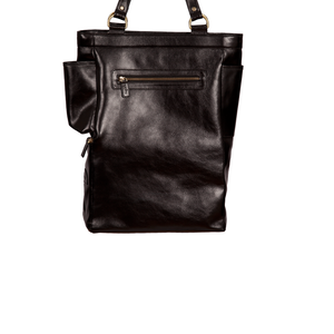 Easoto Commute Carryall Leather Black Back