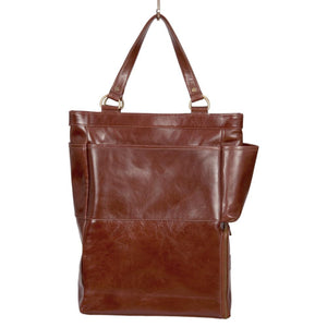 Easoto Commute Carryall Leather Light Brown Front