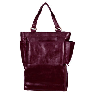 Easoto Commute Carryall Leather Mangosteen Front