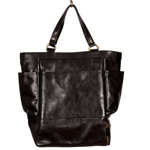 Easoto Travel Carryall Leather Black Front