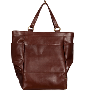Easoto Travel Carryall Leather Light Brown Front