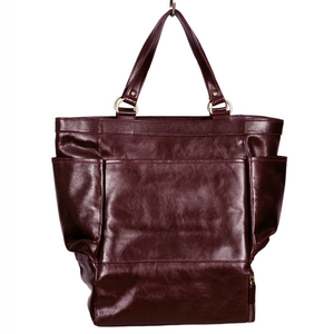 Easoto Travel Carryall Leather Mangosteen Front