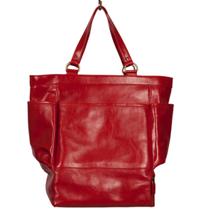 Easoto Travel Carryall Leather Ferrari Red Front
