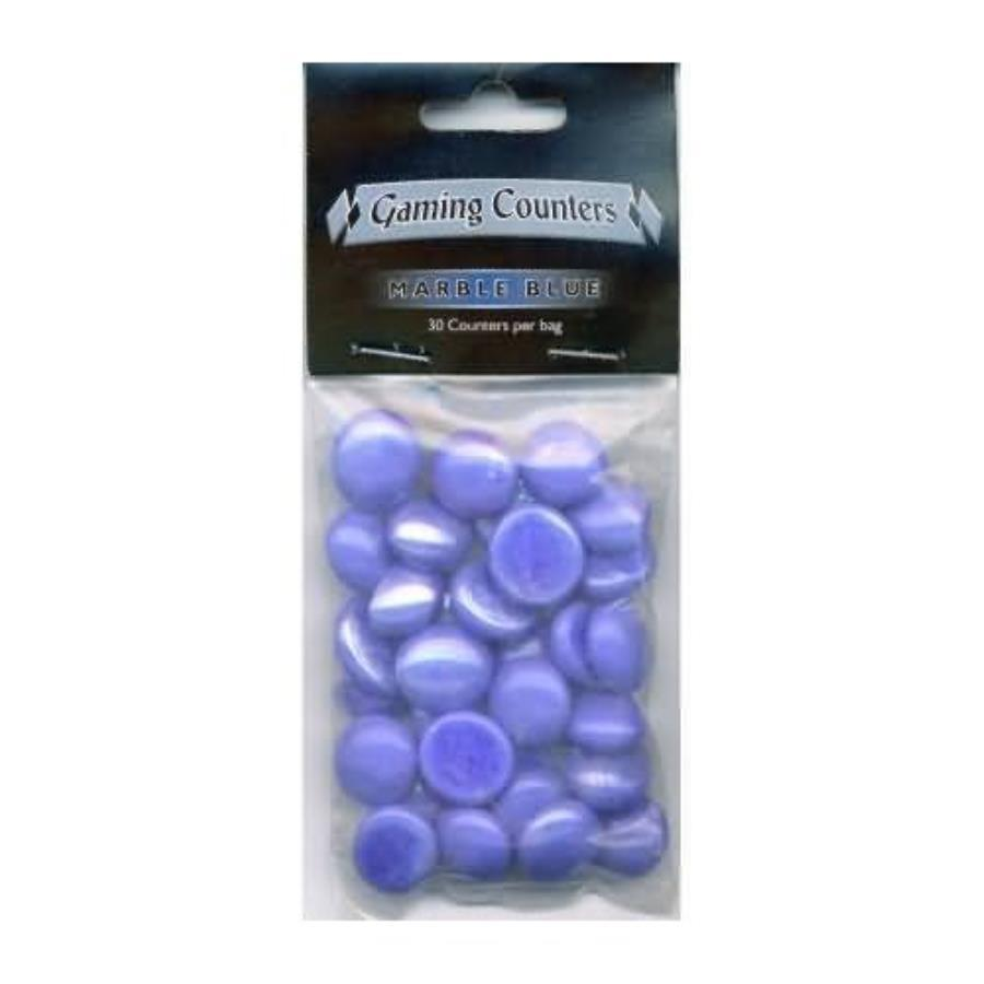 Gaming Counters Marble Blue 30