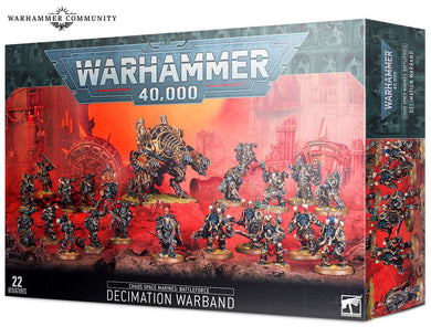 Warhammer 40000: Chaos Space Marines Battleforce Decimation Warband