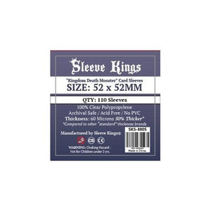 "Fundas Sleeve Kings ""Kingdom Death Monster""(52x52mm)"