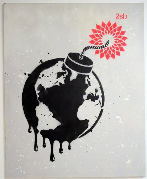 2 Sick Bastards - Bomb the Planet - prettyportal artshop, limited edition prints, urban contemporary art, streetart
