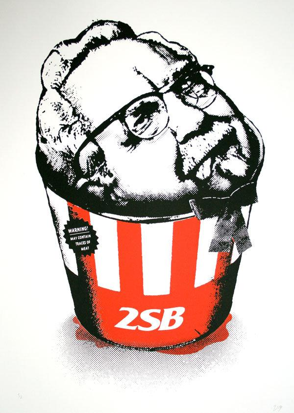 2 Sick Bastards - Kentucky Fried Colonel - prettyportal artshop, limited edition prints, urban contemporary art, streetart
