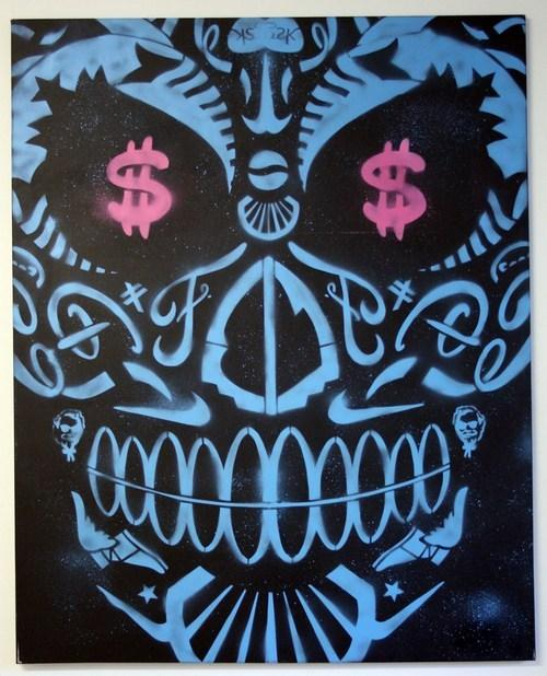2 Sick Bastards - Skullfucker (blue) - prettyportal artshop, limited edition prints, urban contemporary art, streetart