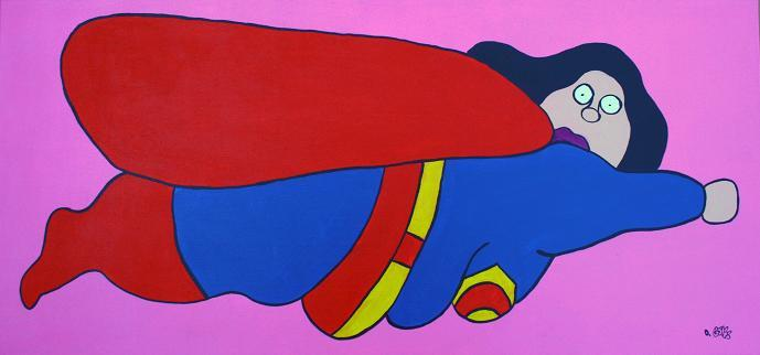 David Gouny: SUPER FAT WOMAN - prettyportal artshop, limited edition prints, urban contemporary art, streetart
