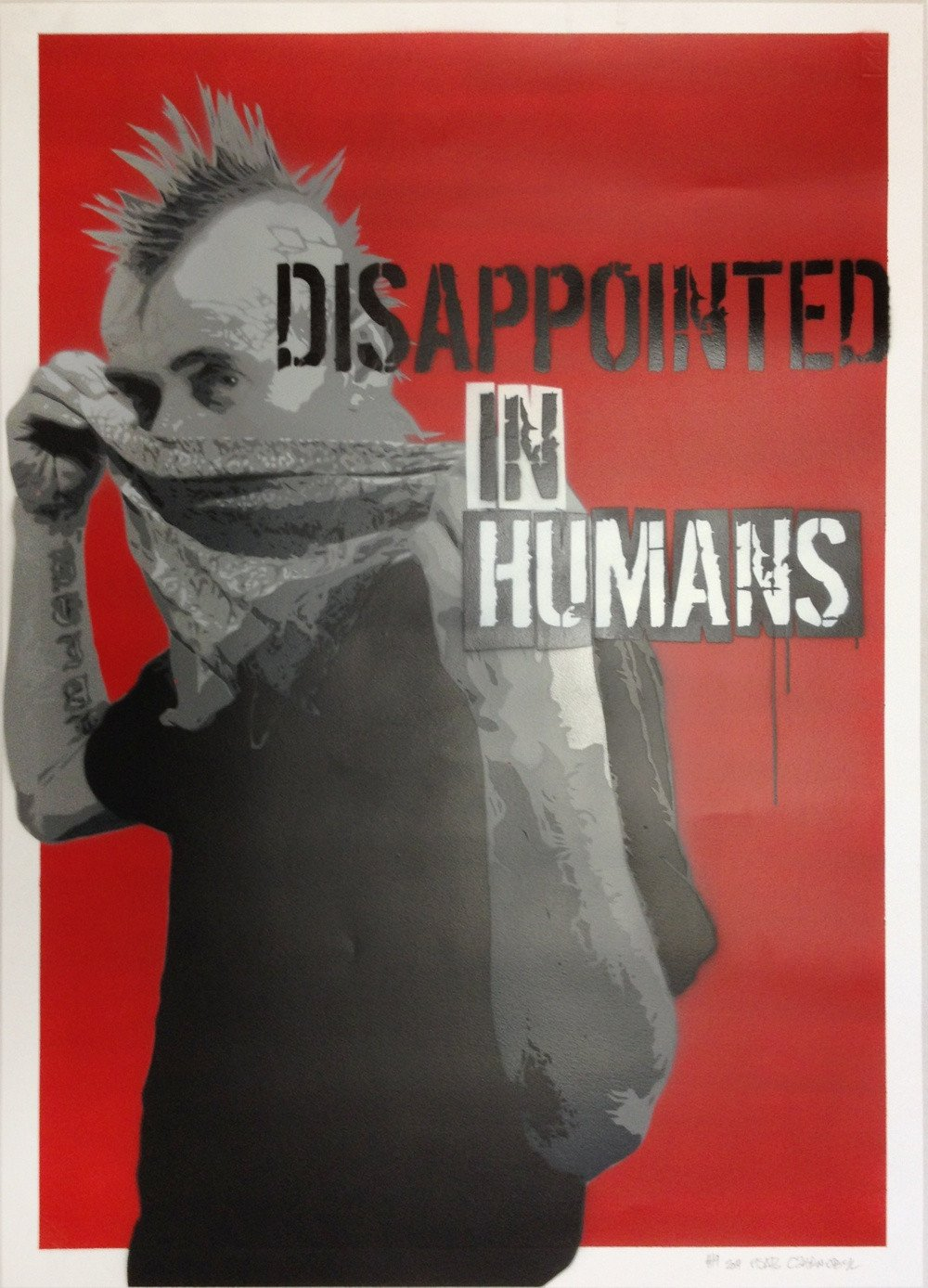 Czarnobyl X-ter & Pisa73: Disappointed in Humans #19 - prettyportal artshop, limited edition prints, urban contemporary art, streetart