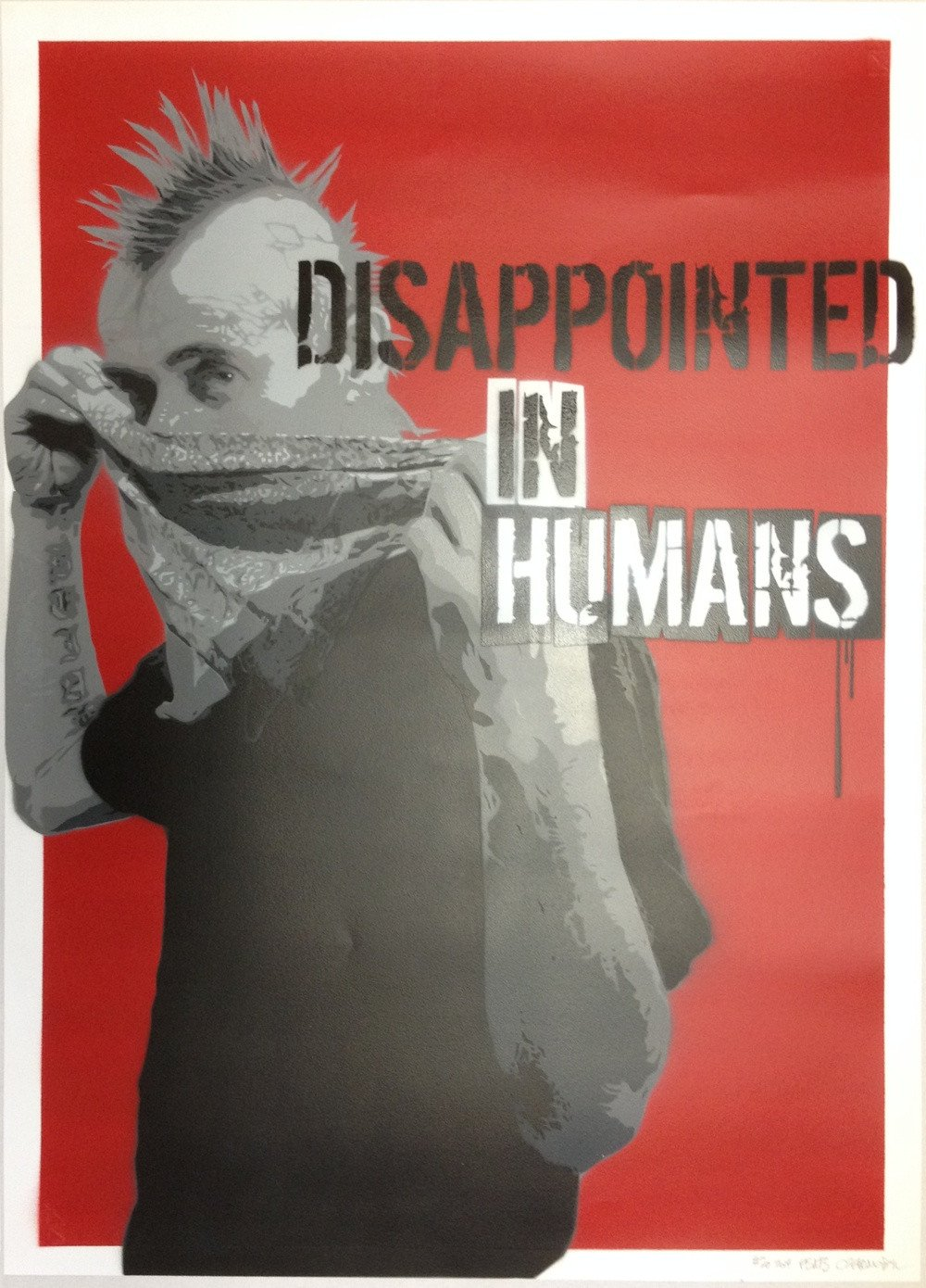 Czarnobyl X-ter & Pisa73: Disappointed in Humans #20 - prettyportal artshop, limited edition prints, urban contemporary art, streetart