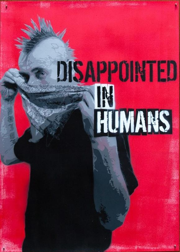 Czarnobyl X-ter & Pisa73: Disappointed in Humans #5 - prettyportal artshop, limited edition prints, urban contemporary art, streetart