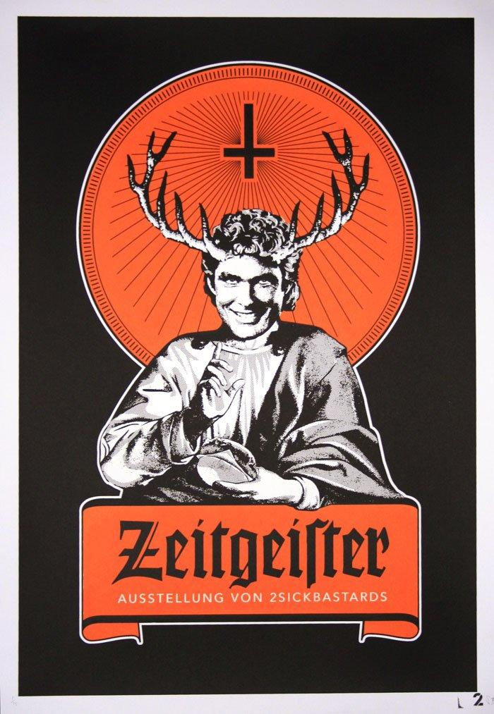 2 Sick Bastards - Zeitgeister - prettyportal artshop, limited edition prints, urban contemporary art, streetart