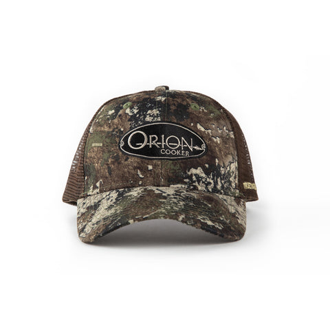 Orion Cooker Camo Hat Front