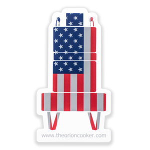 Orion Cooker American Flag Vinyl Decal