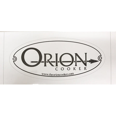 Orion Cooker Weatherproof Vinyl Decal