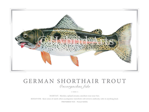 German Shorthair Trout Print