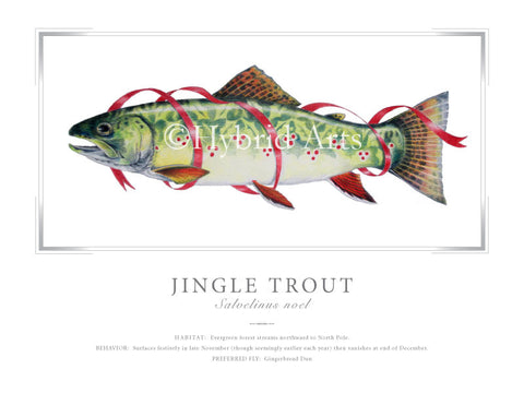 Jingle Trout Print