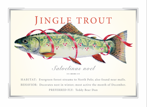 Jingle Trout Christmas Card