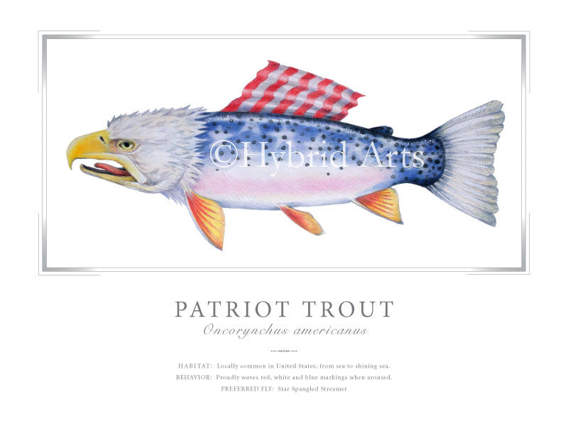Patriot Trout Print