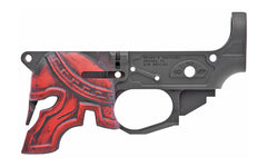 Spike's Tactical Spartan Billet Lower Receiver CALIFORNIA Legal- Red
