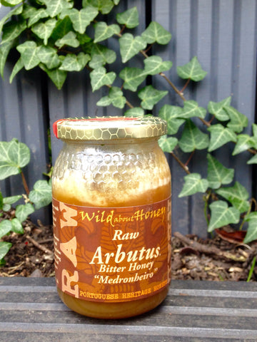 Raw Arbutus Honey, highly medicinal honey from wild about honey