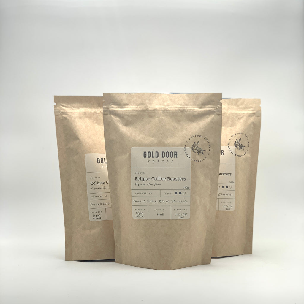 Gold Door Coffee zero waste Canadian Coffee Subscription feature July roaster Eclipse coffee roasters blog
