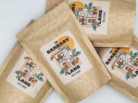 Bags of Gold Door Coffee's house roast 28 Barbary Lane