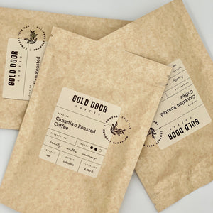 Gold Door Coffee Ltd. zero-waste Canadian coffee subscription bags