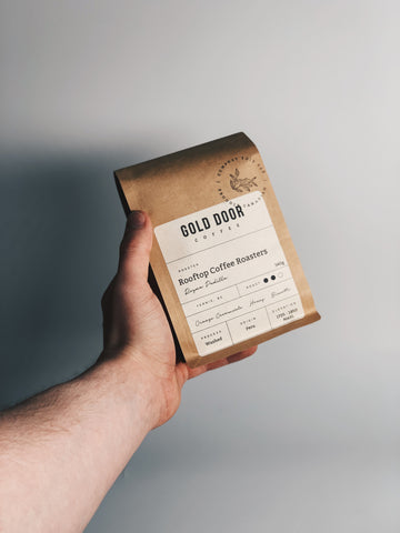 Gold door coffee featured April 2021 roaster Rooftop Coffee Roasters Roaster Roster Blog