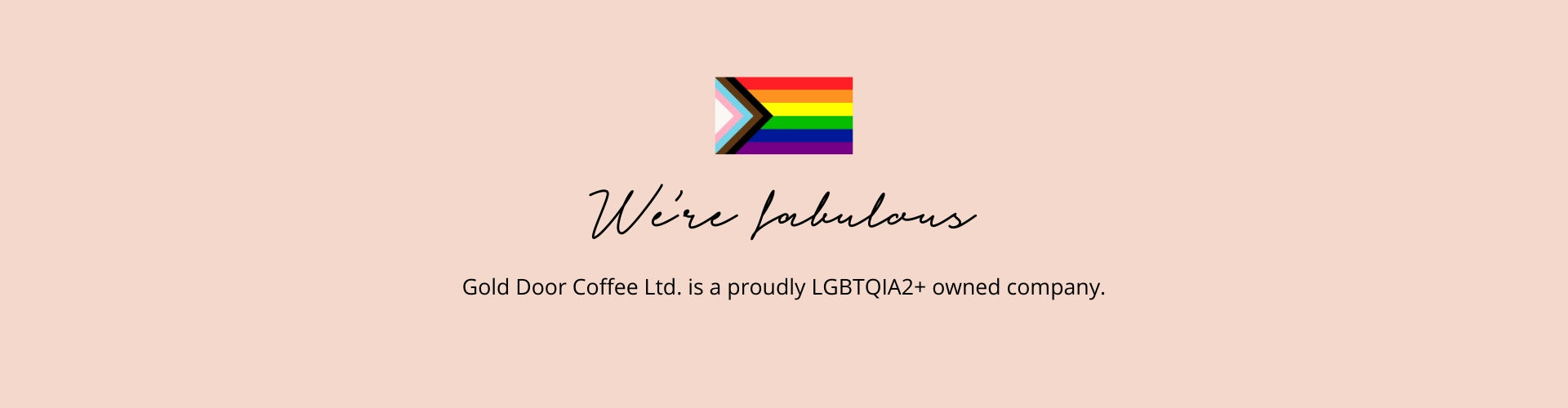 Gold Door Coffee Ltd. Zero-waste Canadian coffee subscription is a proudly LGBTQIA2+ owned company