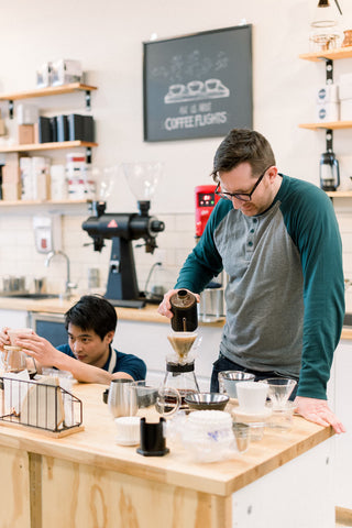Rogue Wave Barista's making pour over coffee