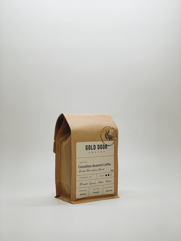 Gold Door Coffee Zero Waste Canadian Coffee Subscription Traveller Subscription one bag